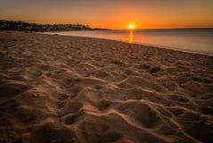 Sunset in Frankston beach in Port Philip bay in Australia stock photo