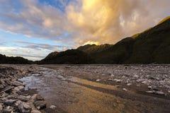 Sunset at franz josef glacier Stock Image