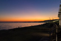 Sunset on the French Riviera Royalty Free Stock Photos