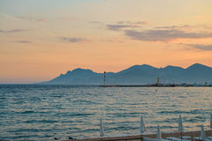 Sunset in French Riviera Stock Images