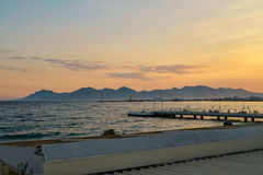 Sunset in French Riviera Royalty Free Stock Photo