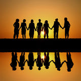 Sunset friends Royalty Free Stock Images