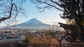 Sunset at Fuji Mountain,Japan. stock photos