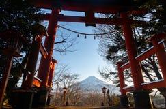Sunset at Fuji Mountain,Japan. royalty free stock photography