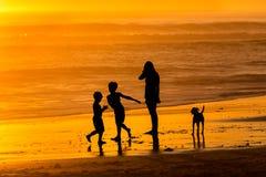 Sunset fun Stock Photography