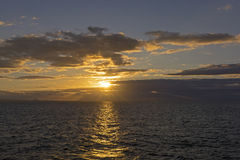Sunset in the Galapagos Islands Royalty Free Stock Photography