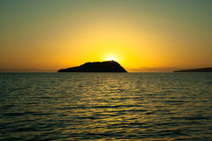 Sunset Gallina Island  Sea of Cortez Stock Photography