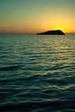 Sunset Gallina Island  Sea of Cortez Royalty Free Stock Photos