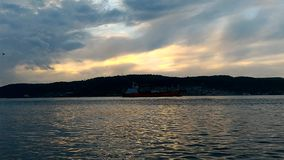 Sunset at Gallipoli. Sunset in Gallipoli on Canakkale Strait stock video