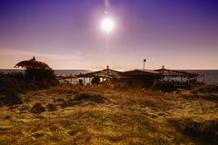 Sunset on Gallipoli  sea, Apulia, Italy Stock Photography