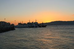 Sunset at Gallipoli royalty free stock photography