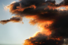Sunset. Games of clouds at sunset Stock Photography
