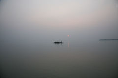 Sunset, Ganges delta Royalty Free Stock Photos