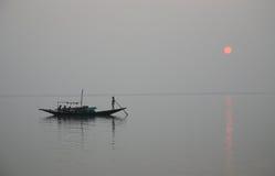 Sunset, Ganges delta Stock Image