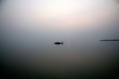 Sunset, Ganges delta Royalty Free Stock Photo