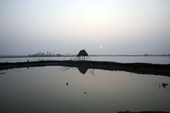 Sunset, Ganges delta Royalty Free Stock Image