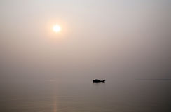 Sunset, Ganges delta Royalty Free Stock Photography