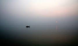 Sunset, Ganges delta Stock Photo