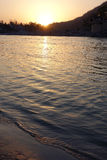 Sunset on the Ganges in Rishikesh Stock Photos