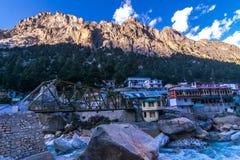 Sunset in Gangotri royalty free stock images