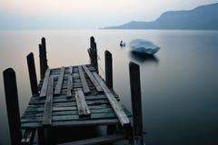 Sunset. In the Garda Lake royalty free stock photography