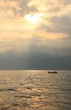 Sunset at Garda lake  Stock Images