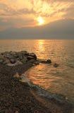 Sunset at Garda lake, Italy. Beautiful Sunset at Garda lake, Italy stock images