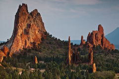Sunset at Garden of the Gods Royalty Free Stock Images