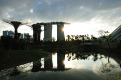 Sunset Gardens By The Bay Stock Photography