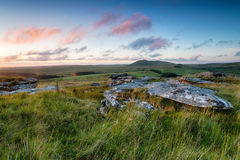 Sunset From garrow Tor Stock Photos