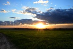 Sunset. From Gaza Royalty Free Stock Photo