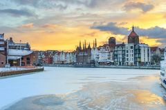 Sunset in Gdansk - Poland. Beautiful Sunset in Gdansk - Poland Royalty Free Stock Images