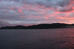 Sunset at Gelibolu. The Dardanelles sunset at Gelibolu Stock Images