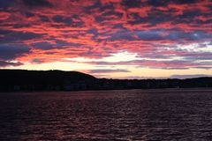 Sunset at Gelibolu. The Dardanelles and the sunset at Gelibolu Stock Photo
