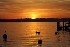 Sunset at Geneva Lake Stock Photos