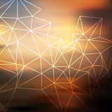Sunset geometric blurred background Stock Photography