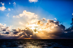 Sunset on German north or east sea Royalty Free Stock Photo