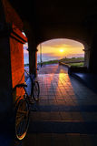 Sunset in Getxo Royalty Free Stock Photos