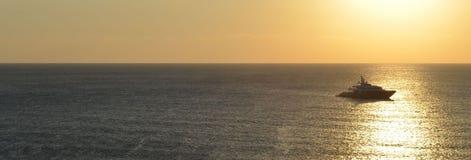 Sunset. Ghajn Tuffieha Bay sandy beach Royalty Free Stock Photos