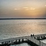 Sunset. Ghiol lake, Constanta, Romania Royalty Free Stock Photo
