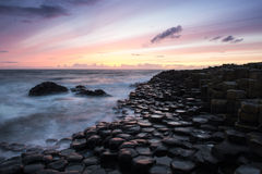 Sunset at Giant's Causeway Royalty Free Stock Photo