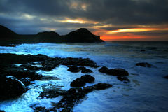 Sunset of Giant's Causeway Stock Image