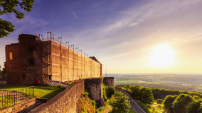Sunset at Giechburg Castle Ruin, Germany Royalty Free Stock Images