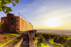 Sunset at Giechburg Castle Ruin, Germany Stock Photos