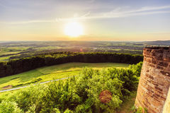 Sunset at Giechburg Castle Ruin, Germany Royalty Free Stock Photos