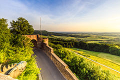 Sunset at Giechburg Castle Ruin, Germany Stock Photo