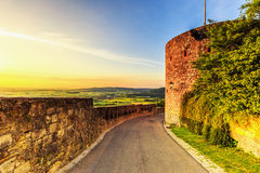 Sunset at Giechburg Castle Ruin, Germany Royalty Free Stock Photo