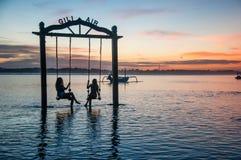 Sunset at Gili Air, Lombok Royalty Free Stock Photos