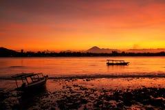 Sunset at Gili Meno Royalty Free Stock Photography