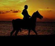 Sunset in Gili Trawangan stock images